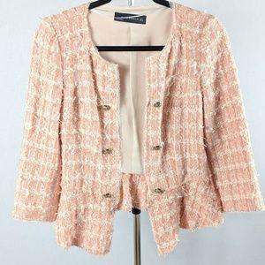 Zara Woman Tweed Jacket Blazer Small